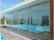 Aluminium panoramic window ORAMA MINIMAL FRAMES - ATELIER ITALIA