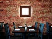 Fluorescent PMMA wall light CUBO FLAT 500 | Wall light - Lombardo