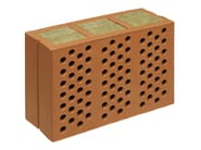 Thermal insulating clay block