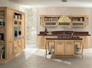 Chestnut kitchen with island VERONICA | Wooden kitchen - Cucine Lube
