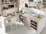 Wooden kitchen with island with handles LAURA | Kitchen - Cucine Lube
