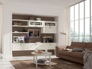 Wooden storage wall LAURA | Storage wall - Cucine Lube