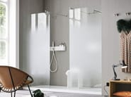 Glass shower wall panel NUVOLA - Rexa Design