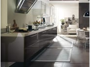 Solid wood kitchen with handles