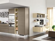 Wooden fitted kitchen