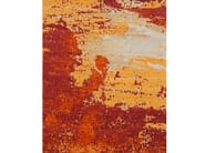 Handmade rectangular wool rug