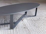 Low powder coated steel coffee table BINO | Oval coffee table - Miniforms