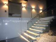 Cement cantilevered staircase Cantilevered concrete exterior stairs - Siller Treppen