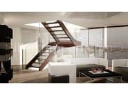 Self supporting Glass and Stainless Steel Open staircase with lateral stringers MELBOURNE, SELF SUPPORTING STAIRCASE | Glass and Stainless Steel Open staircase - Siller Treppen