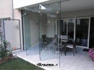 Glass folding door VENTAGLIO | Patio door - FARAONE
