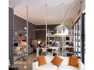 Double-sided sectional aluminium shelving unit K2   Bookcase - KRIPTONITE