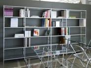 Freestanding sectional aluminium shelving unit K3 - KRIPTONITE