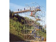 Tubular structure and scaffolding PERI UP Rosett Flex - PERI