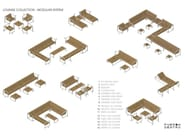 Examples of modular lounge configurations