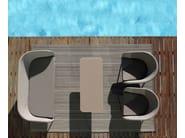 Design 2 seater Batyline® garden sofa SHELL SOFA   2 seater garden sofa - FueraDentro