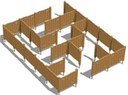 Laminated wood Dog agility equipment AGILITY DOG LABIRINT - Legnolandia