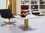 Low round solid wood coffee table DUETTO - SCULPTURES JEUX by Eppis