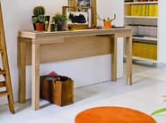 Extending solid wood console table PAPILLON | Oak console table - SCULPTURES JEUX by Eppis