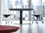 Wooden meeting table MULTIPLICEO | Round meeting table - FANTONI