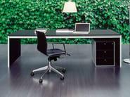 Rectangular tanned leather office desk CORIUM - FANTONI