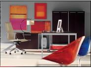 Rectangular office desk BIANCONERO CORIUM OAK | Office desk - FANTONI