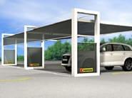 Powder coated steel Carport K-SHELT - Kopron