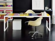 Lacquered rectangular office desk STRIPES | Office desk - FANTONI