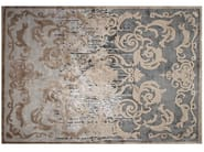 Handmade rectangular custom silk rug CARDINAL SHADOW - EDITION BOUGAINVILLE