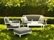 Square garden footstool PARIS | Garden footstool - Sérénité Luxury Monaco