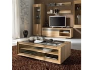 Rectangular oak coffee table LITTLE - Domus Arte