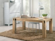 Extending rectangular solid wood table STORIA | Rectangular table - Domus Arte