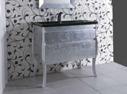 Silver leaf vanity unit with drawers MINIMAL DECO - LA BOTTEGA DI MASTRO FIORE