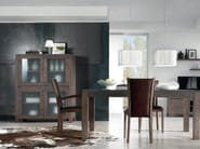 Solid wood display cabinet AUDREY 2 | Display cabinet - Domus Arte