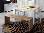 Solid wood bench BACIO - Domus Arte