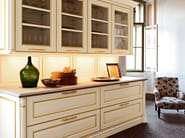 Lacquered MDF kitchen with handles ELITE - COMPOSITION 4 - Cesar Arredamenti