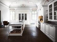 Lacquered kitchen with island ELITE - COMPOSITION 2 - Cesar Arredamenti