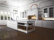 Lacquered kitchen with island ELITE - COMPOSITION 2 - Cesar Arredamenti