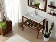 Solid wood console sink OVAL | Solid wood console sink - LA BOTTEGA DI MASTRO FIORE