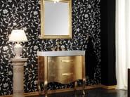Gold leaf vanity unit with drawers with mirror ZEUS | Gold leaf vanity unit - LA BOTTEGA DI MASTRO FIORE