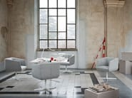 Fabric easy chair with 4-spoke base DRESSED | Design easy chair - Tacchini Italia Forniture