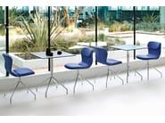 Upholstered trestle-based chair ITALIA | Trestle-based chair - Midj