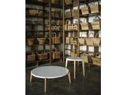 Round marble coffee table MONZINO - Tacchini Italia Forniture