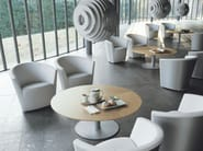 Upholstered easy chair with armrests PARENTESI - Tacchini Italia Forniture