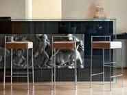 High upholstered barstool MARK | Barstool - Midj