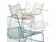 Sled base stackable steel chair STITCH | Chair - Esedra by Prospettive
