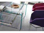 Extending rectangular glass table MAMBO/R | Rectangular table - Midj