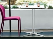 Square table with 4-star base SINTESY - Midj