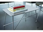 Rectangular stainless steel coffee table WALTER | Rectangular coffee table - Midj