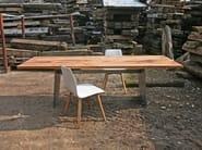 Rectangular reclaimed wood table BARBAROSSA - KFF