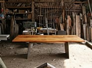 Rectangular reclaimed wood table BARBAROSSA - KFF
